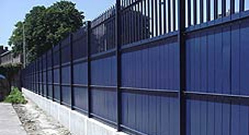 solid metal fence. Hadleys UltraSECURE Fencing Solid Metal Fence A
